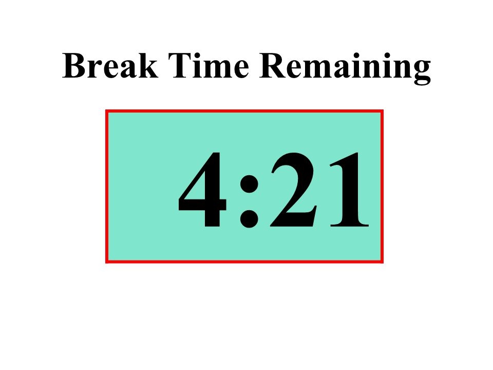 Break Time Remaining 4:21
