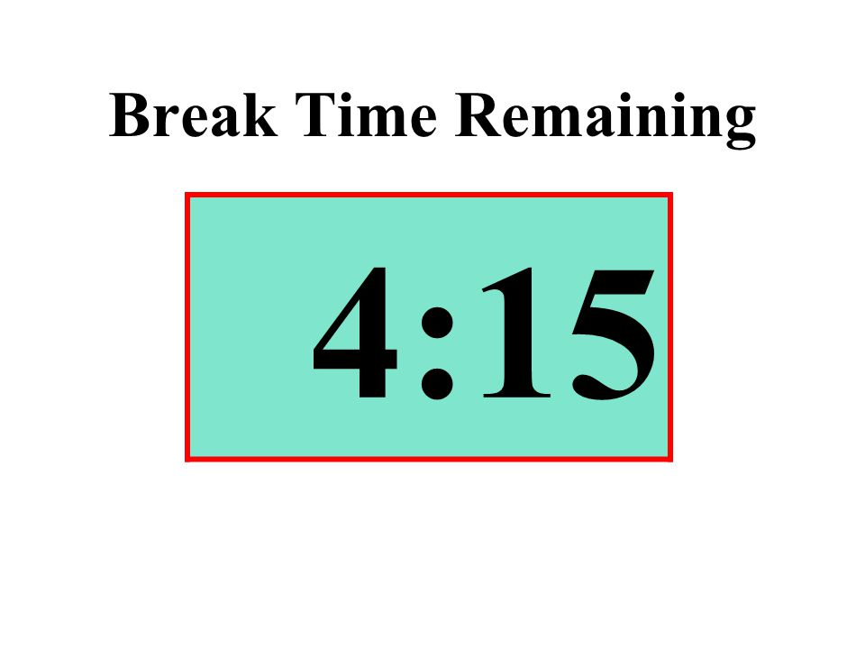 Break Time Remaining 4:15