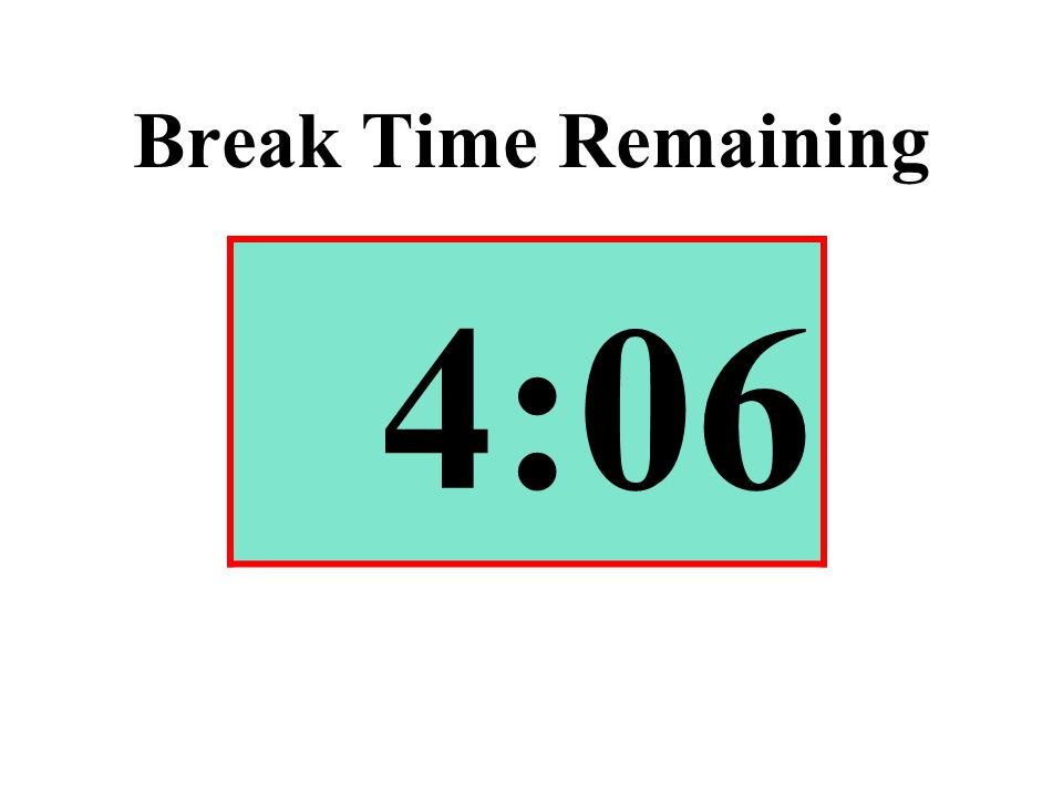 Break Time Remaining 4:06