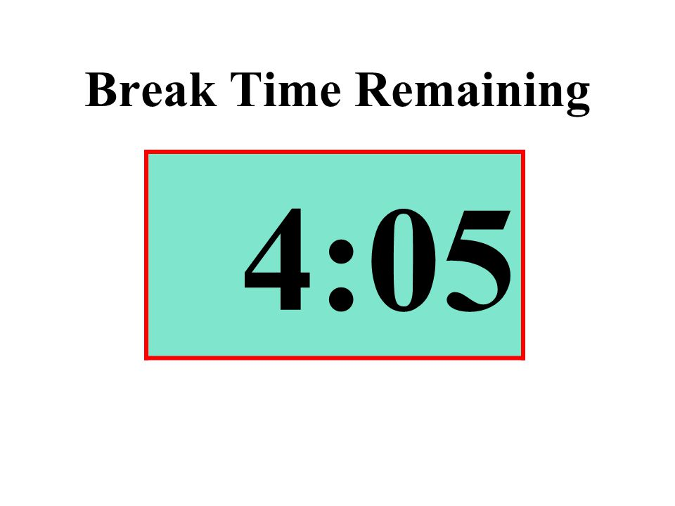 Break Time Remaining 4:05