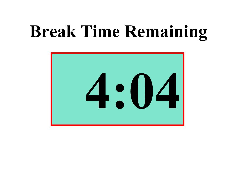 Break Time Remaining 4:04