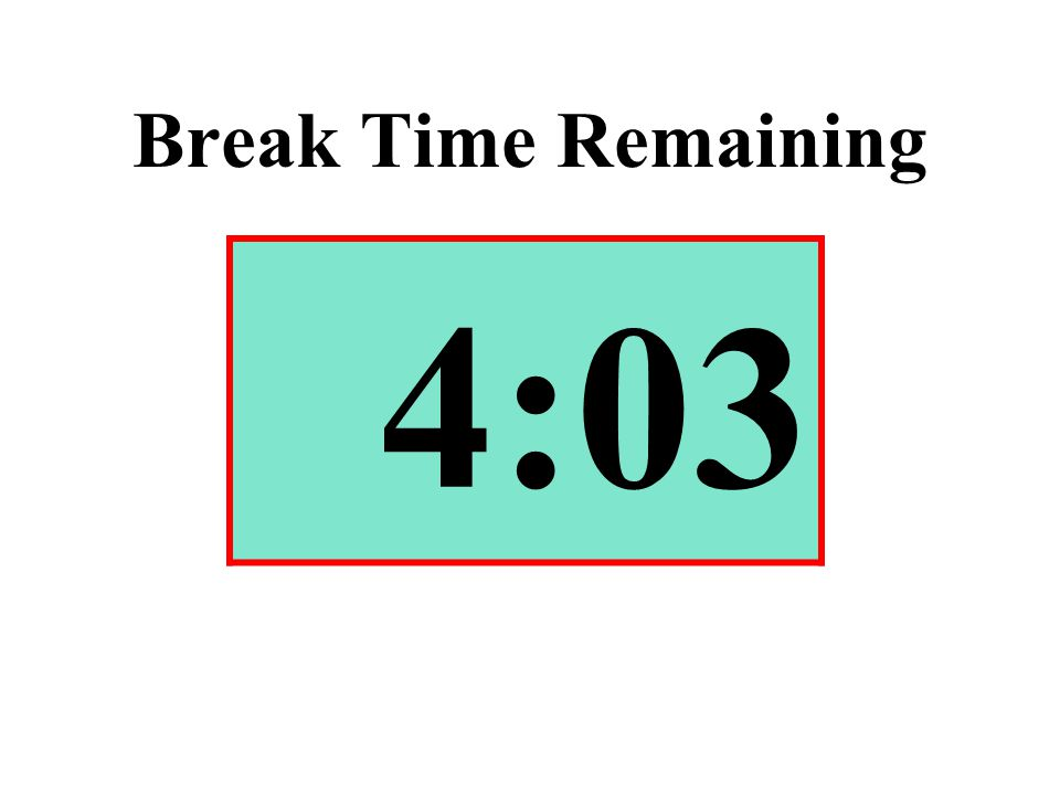 Break Time Remaining 4:03
