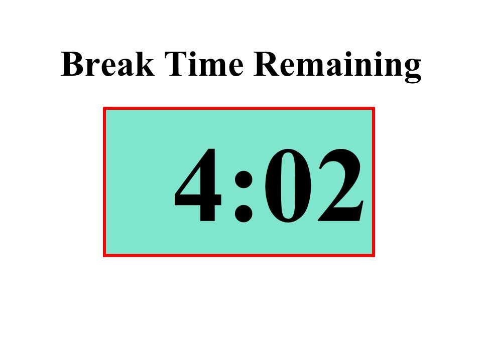 Break Time Remaining 4:02