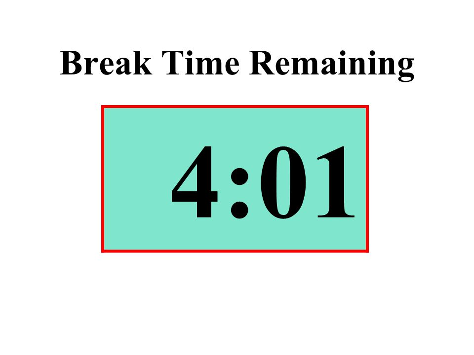 Break Time Remaining 4:01
