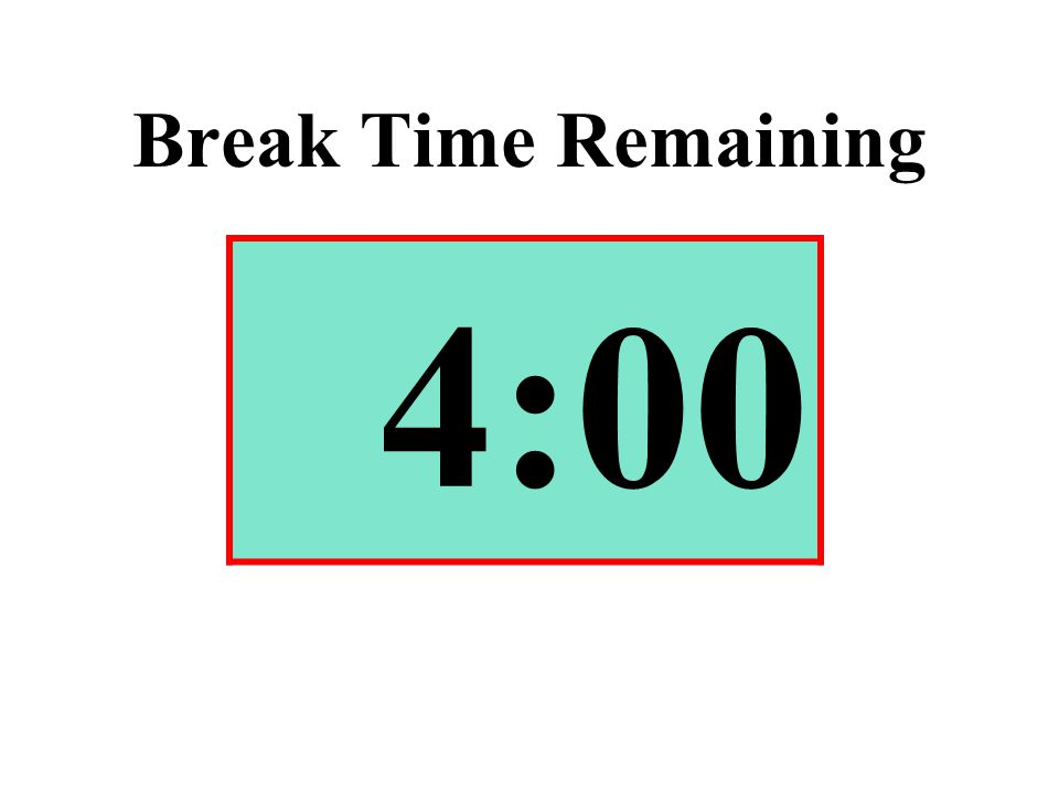 Break Time Remaining 4:00