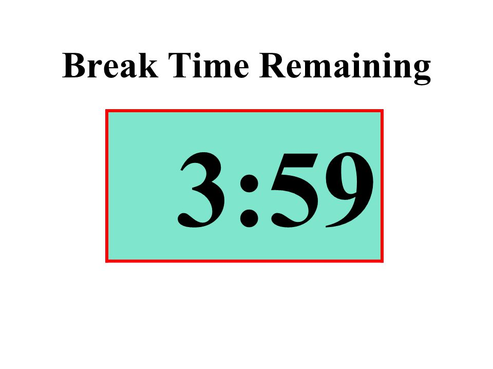 Break Time Remaining 3:59