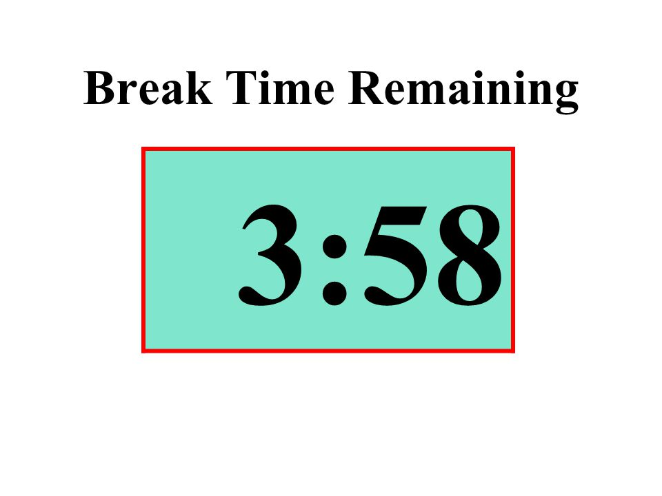 Break Time Remaining 3:58