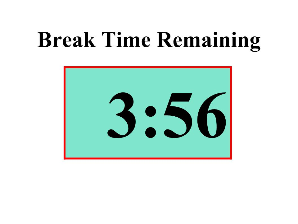Break Time Remaining 3:56