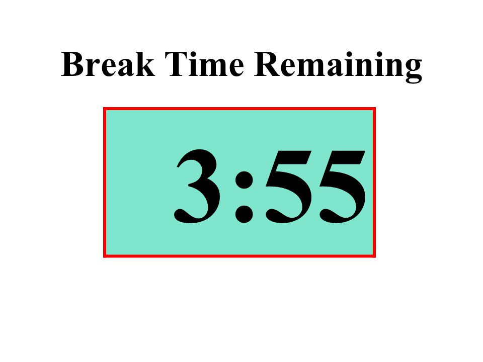 Break Time Remaining 3:55