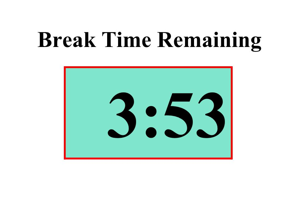 Break Time Remaining 3:53
