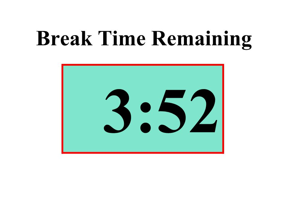 Break Time Remaining 3:52