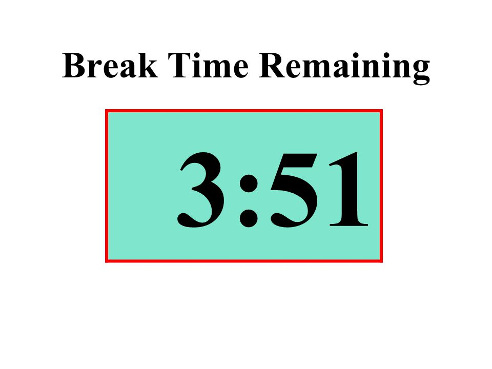 Break Time Remaining 3:51