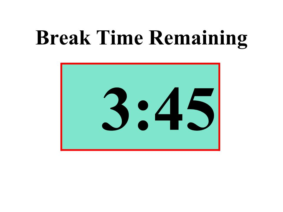 Break Time Remaining 3:45