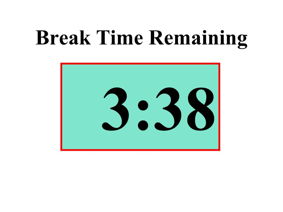 Break Time Remaining 3:38