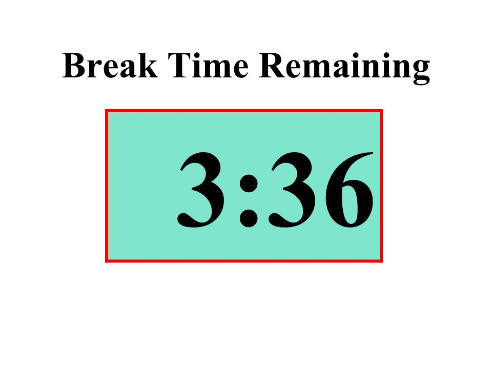 Break Time Remaining 3:36