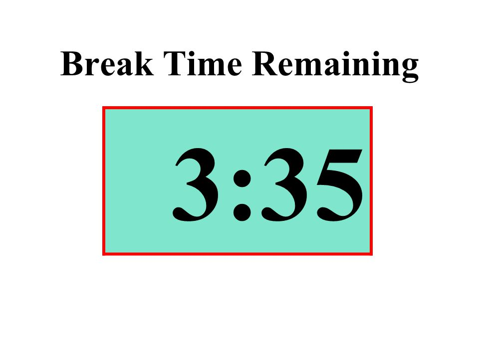 Break Time Remaining 3:35