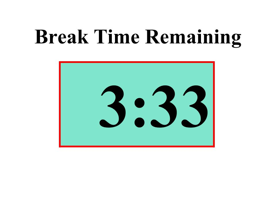 Break Time Remaining 3:33