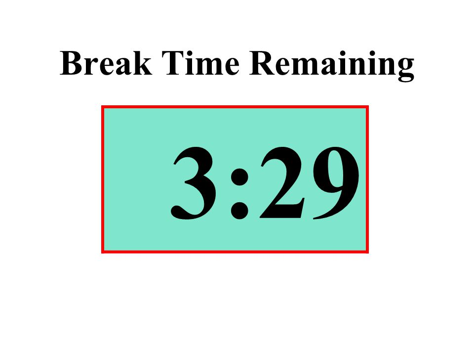Break Time Remaining 3:29