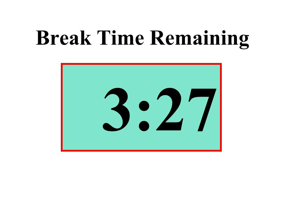 Break Time Remaining 3:27