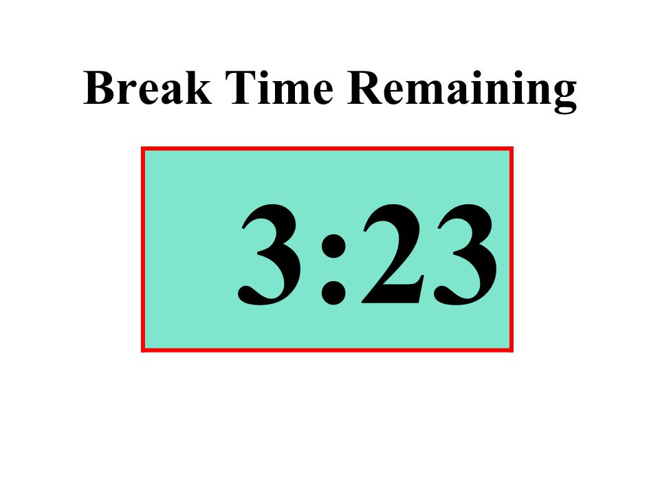 Break Time Remaining 3:23