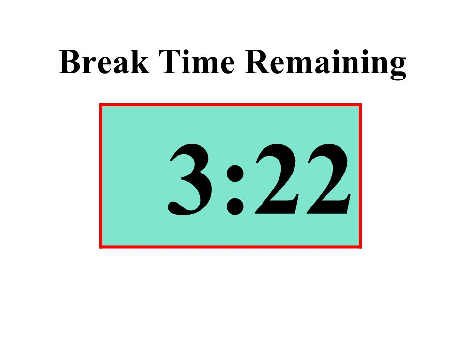 Break Time Remaining 3:22