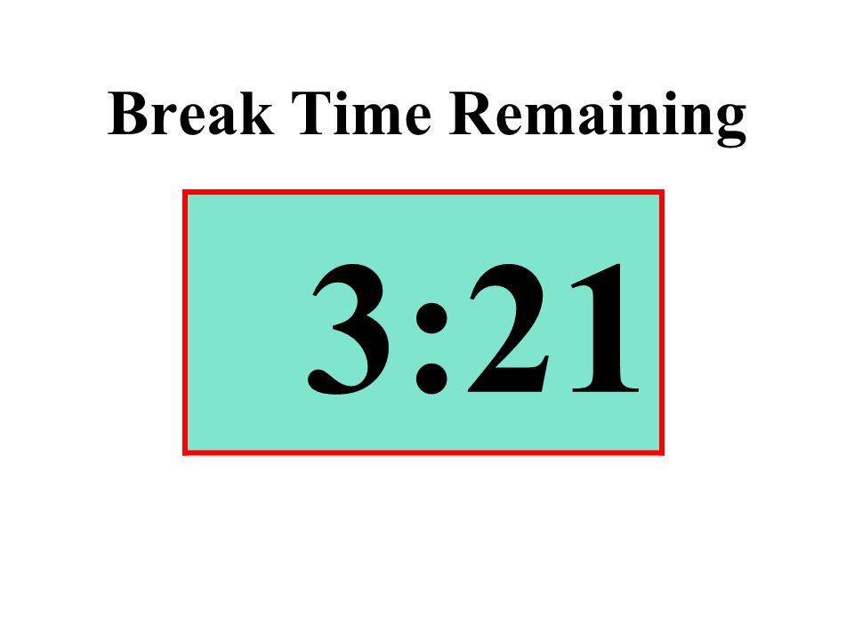 Break Time Remaining 3:21