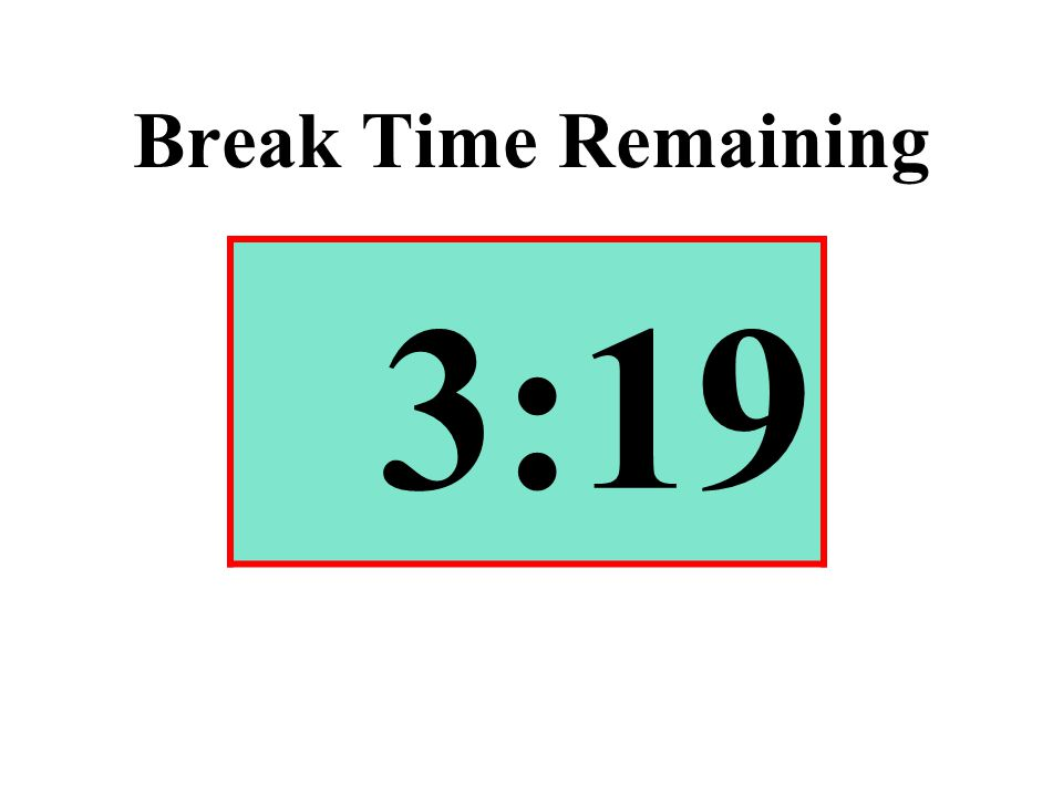 Break Time Remaining 3:19
