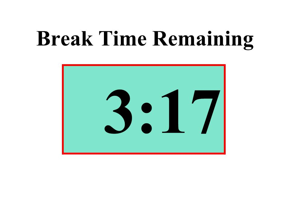 Break Time Remaining 3:17