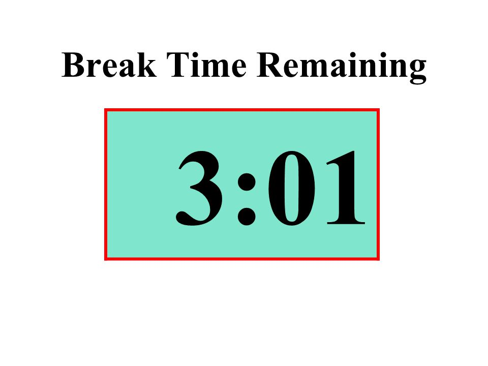 Break Time Remaining 3:01