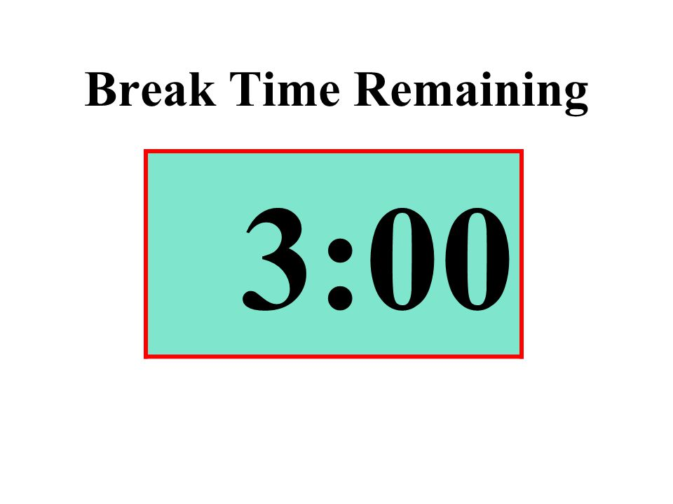 Break Time Remaining 3:00