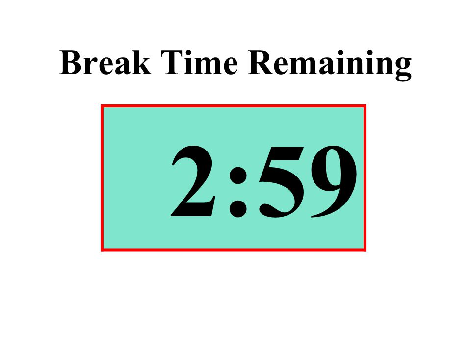 Break Time Remaining 2:59