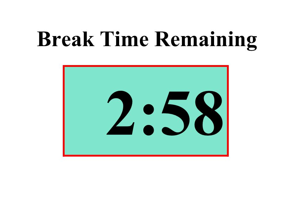 Break Time Remaining 2:58