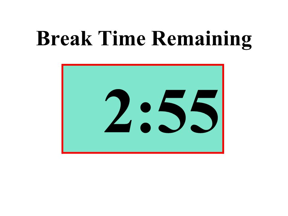 Break Time Remaining 2:55