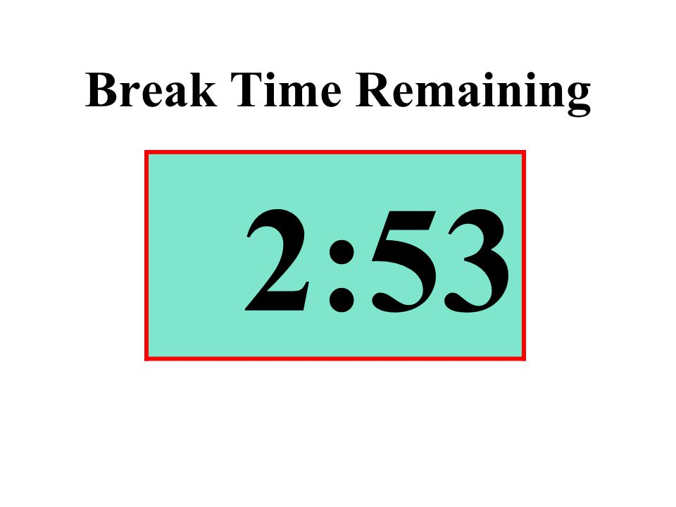 Break Time Remaining 2:53