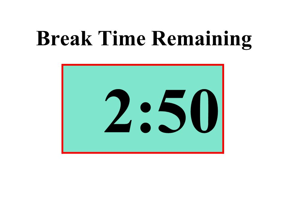 Break Time Remaining 2:50