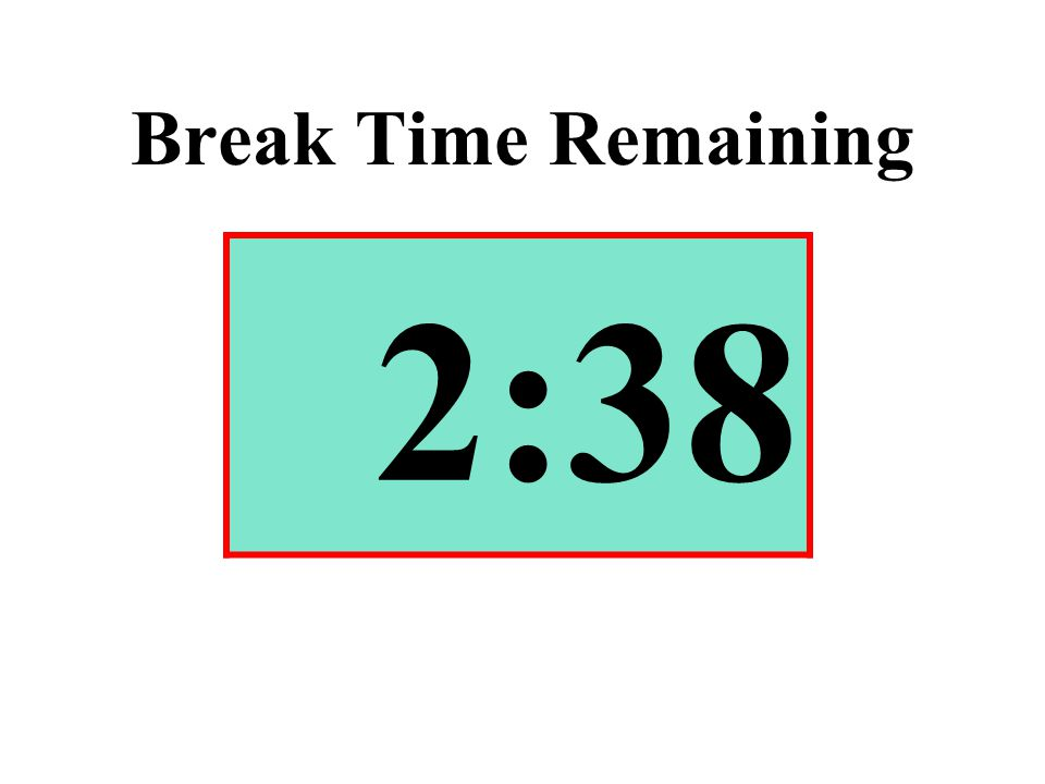 Break Time Remaining 2:38