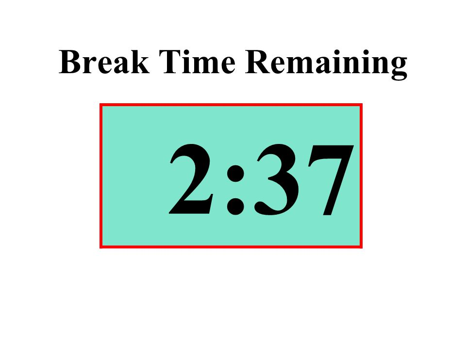 Break Time Remaining 2:37