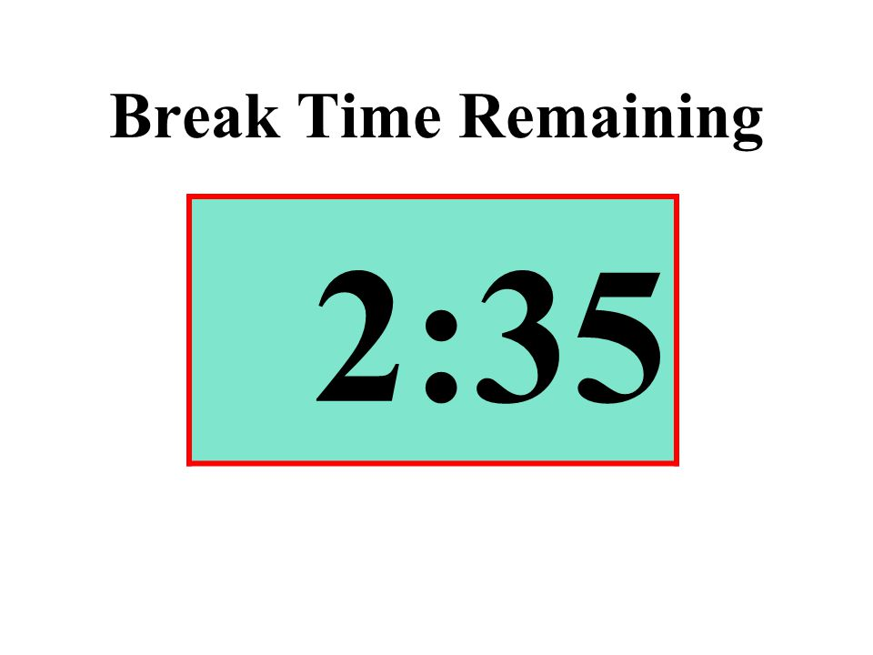 Break Time Remaining 2:35