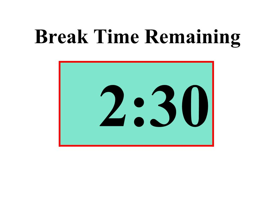 Break Time Remaining 2:30