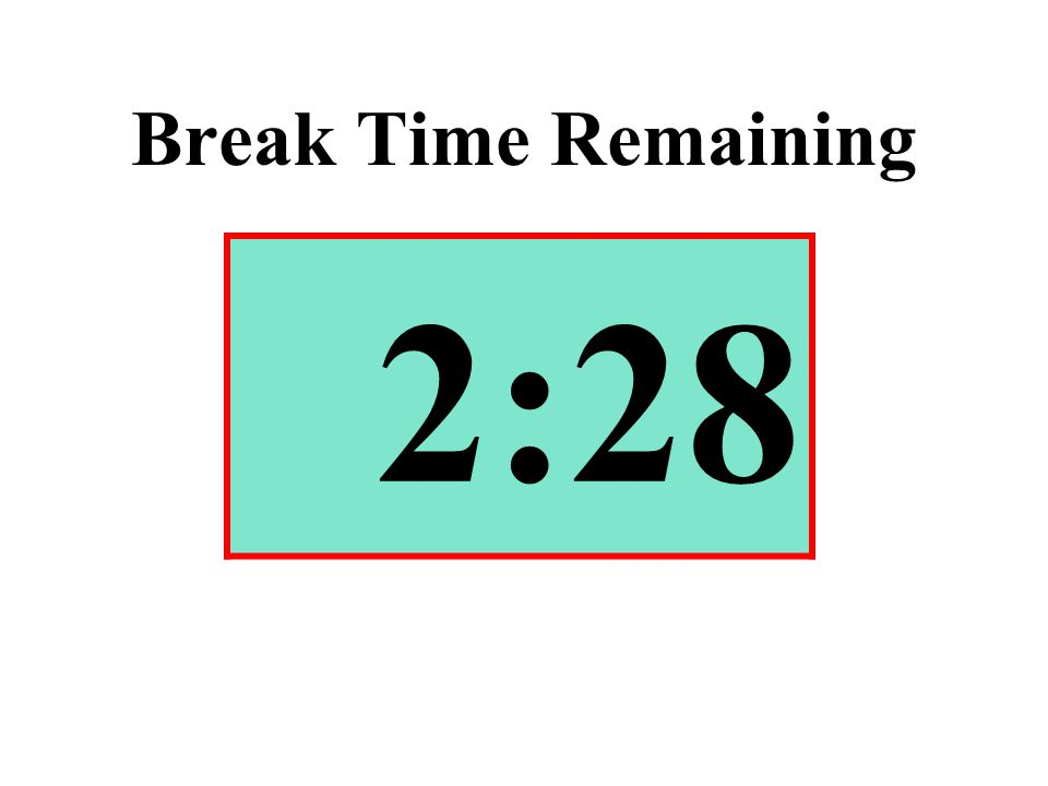 Break Time Remaining 2:28