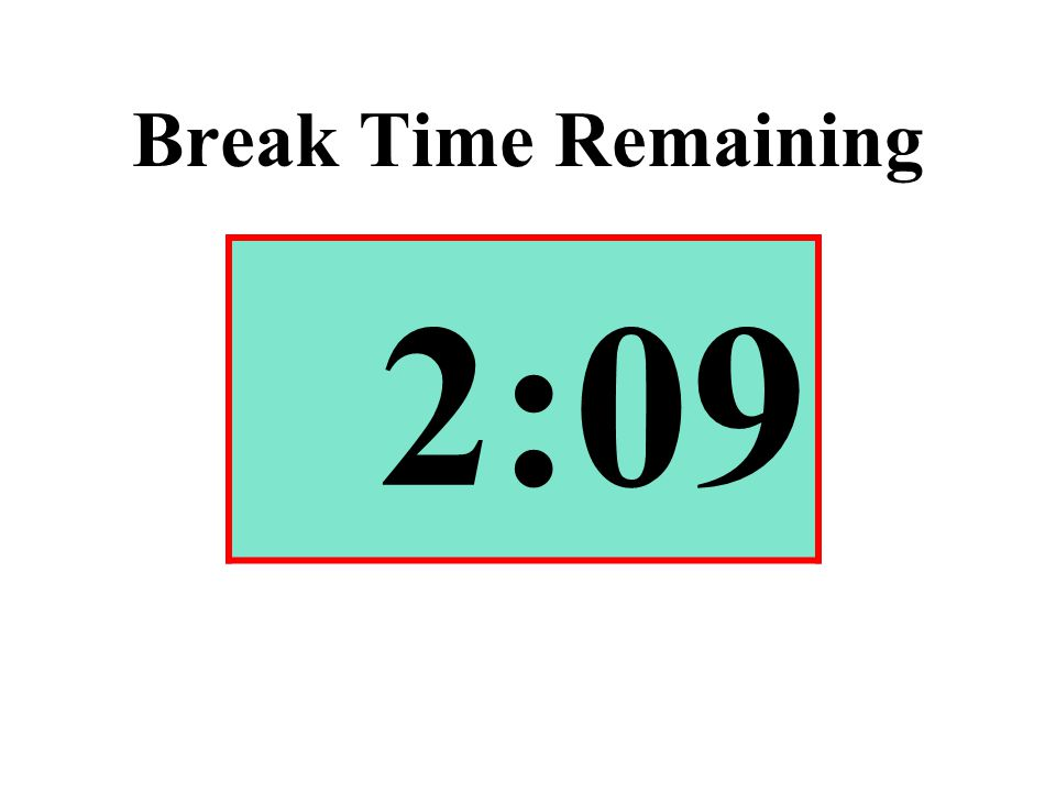 Break Time Remaining 2:09