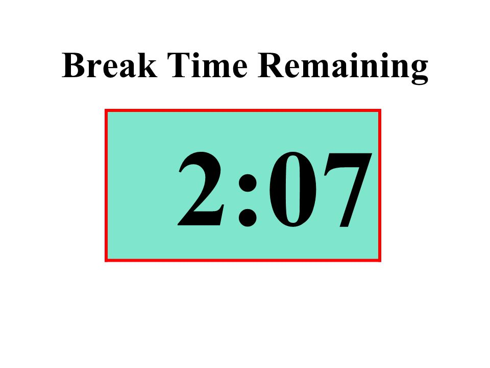 Break Time Remaining 2:07