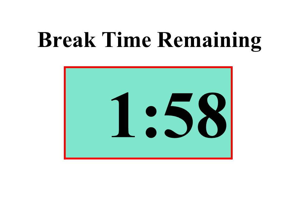 Break Time Remaining 1:58