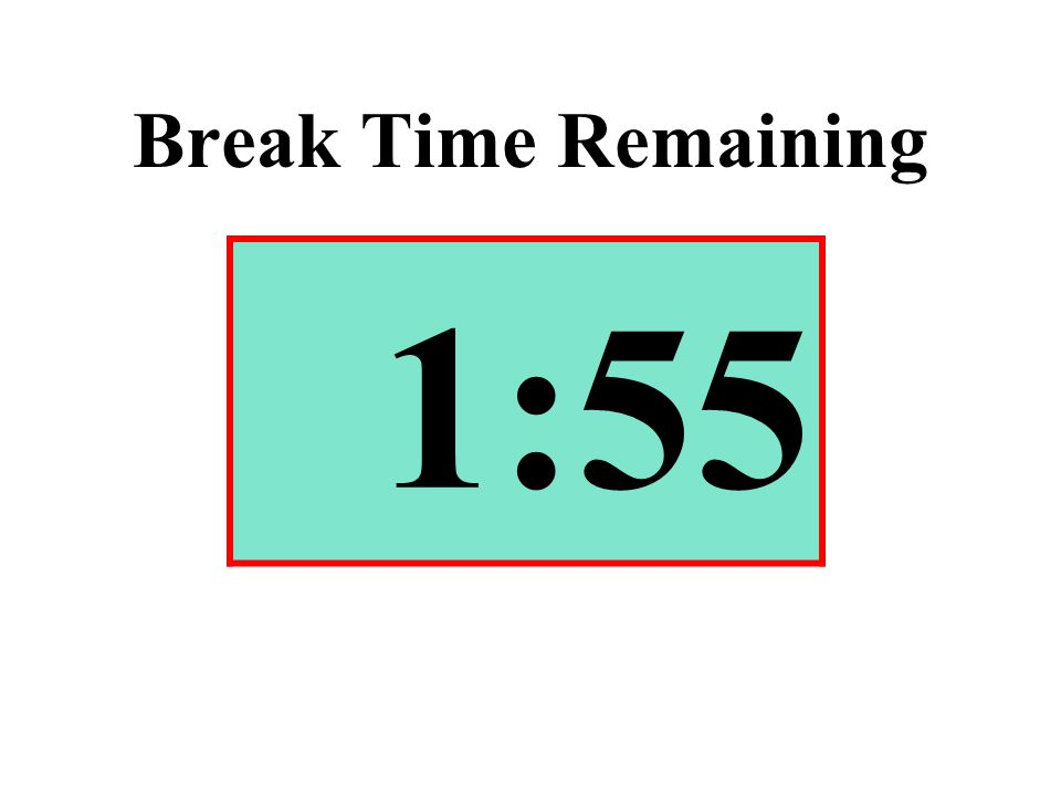 Break Time Remaining 1:55