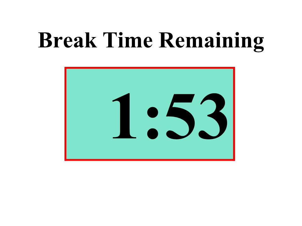 Break Time Remaining 1:53