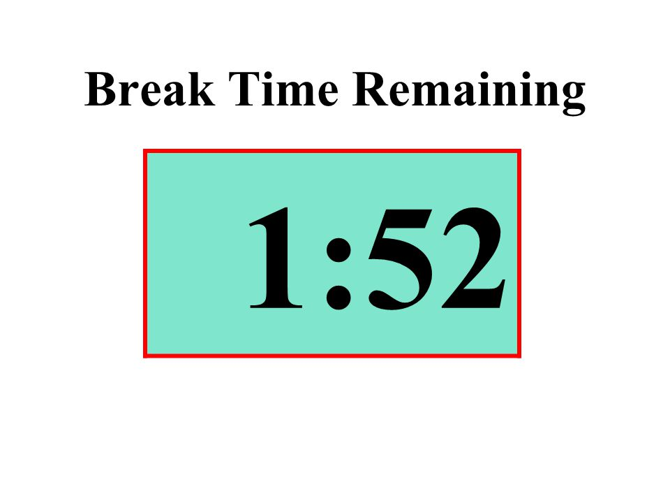 Break Time Remaining 1:52