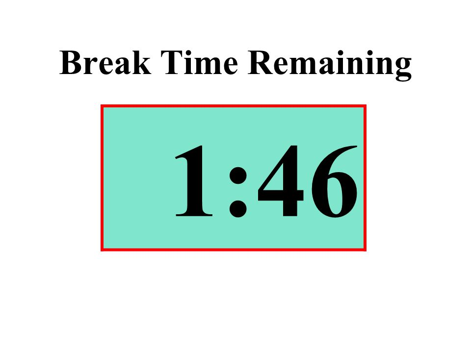 Break Time Remaining 1:46