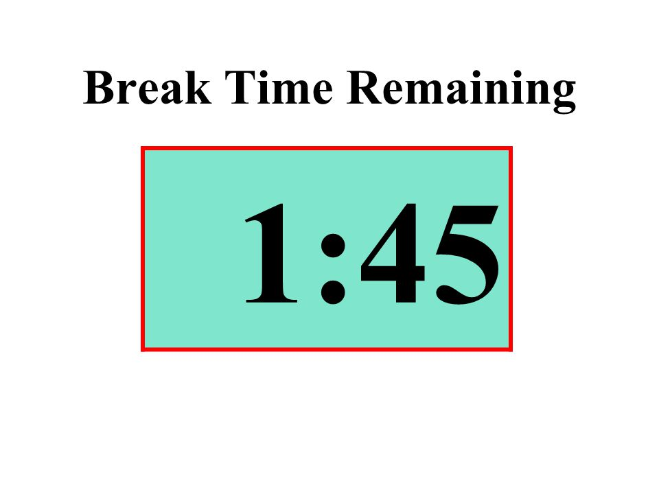 Break Time Remaining 1:45