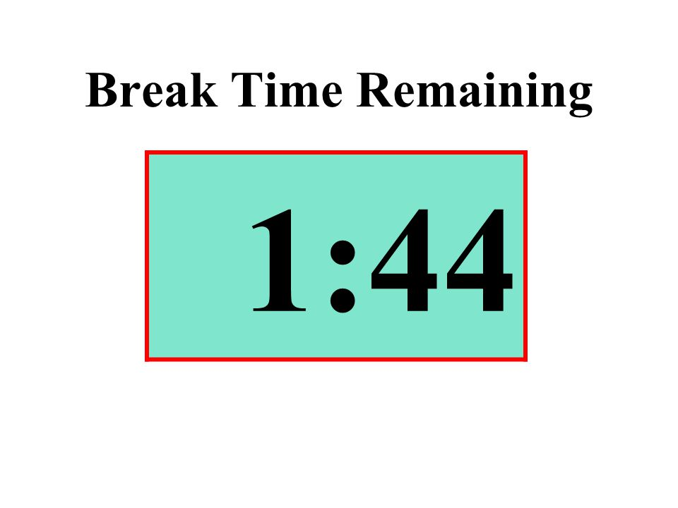 Break Time Remaining 1:44