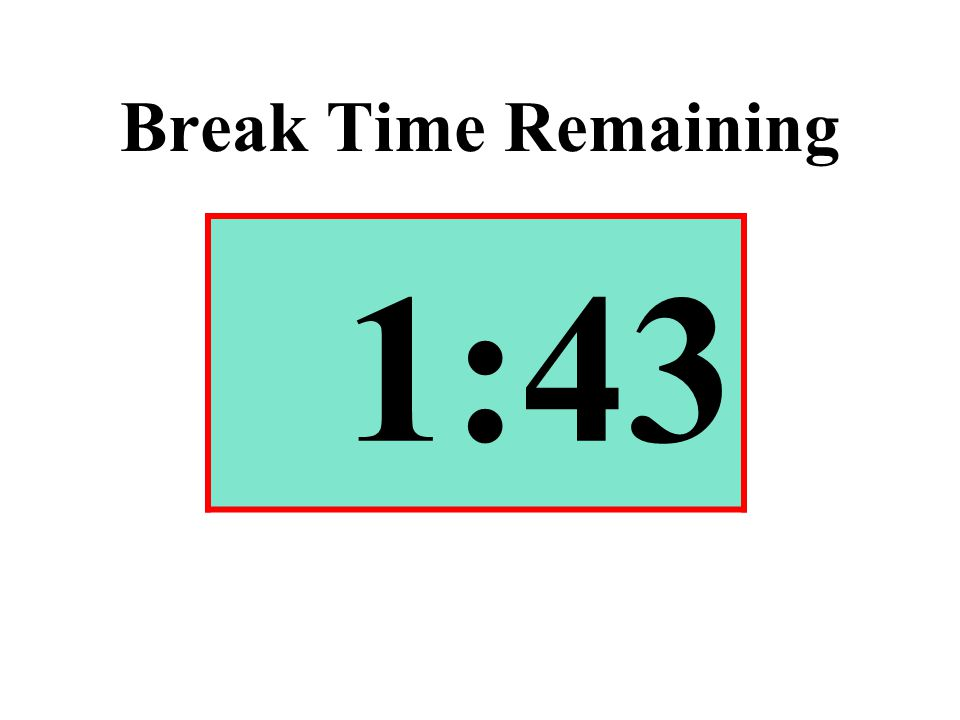 Break Time Remaining 1:43